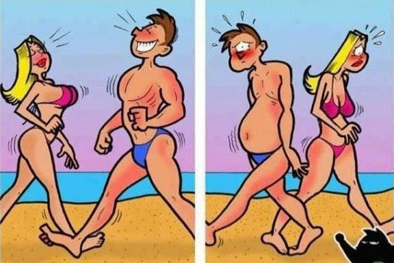 Truth about beach appearance